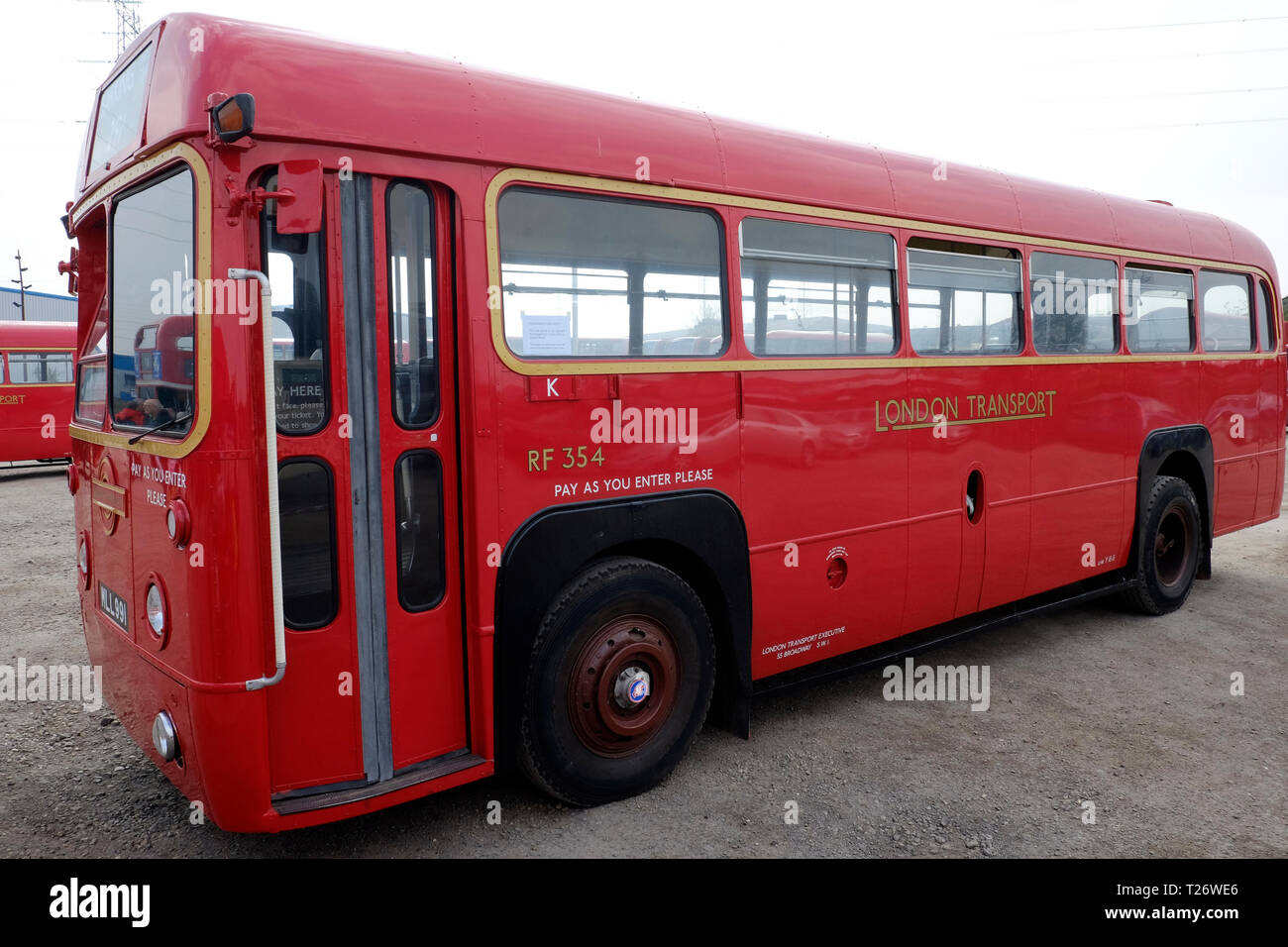 London, UK, 30th March, 2019. London bus museum is running old buses in Barking, and passengers can board them for free. Credit: Yanice Idir / Alamy Live News Stock Photo