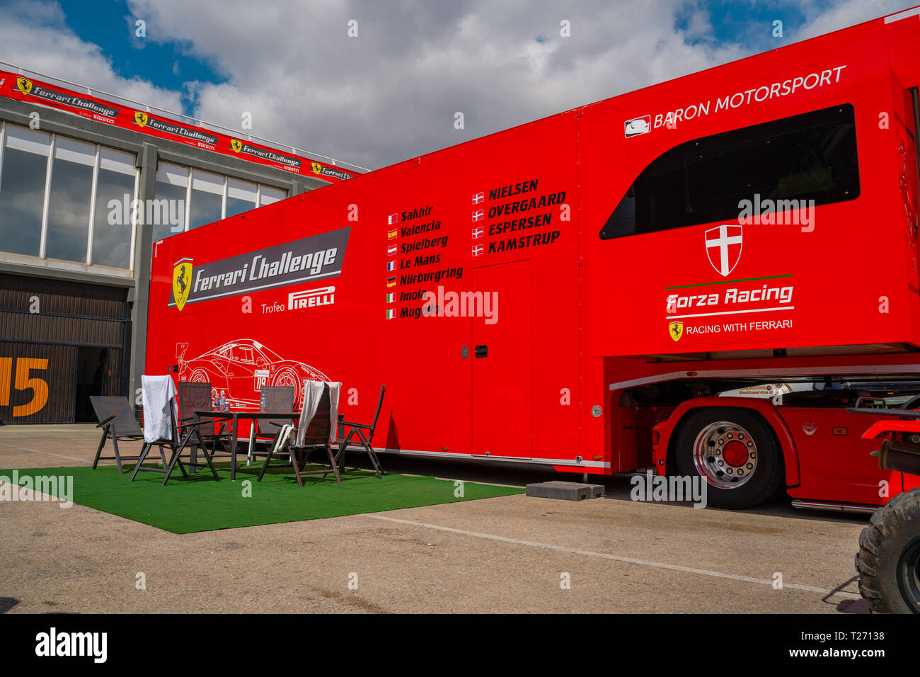 Cheste Valencia Spain 30th March 2019 Race In Spain Of The Scuderia Competition Ferrari Challenge 2019 Cheste Valencia Championship Credit Vivitaart Alamy Live News Credit Vivitaart Alamy Live News Stock Photo Alamy