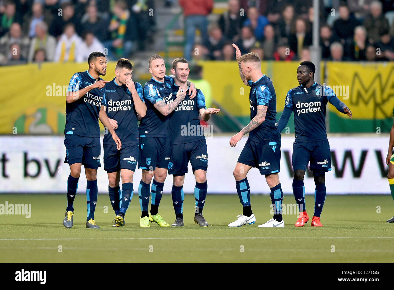 Den Haag 30 03 2019 Cars Jeans Stadion Season 2018 2019 Vitesse Player Thomas Buitink Celebrating The 2 3 And His Hattrick During The Match Ado Den Haag Vitesse Stock Photo Alamy