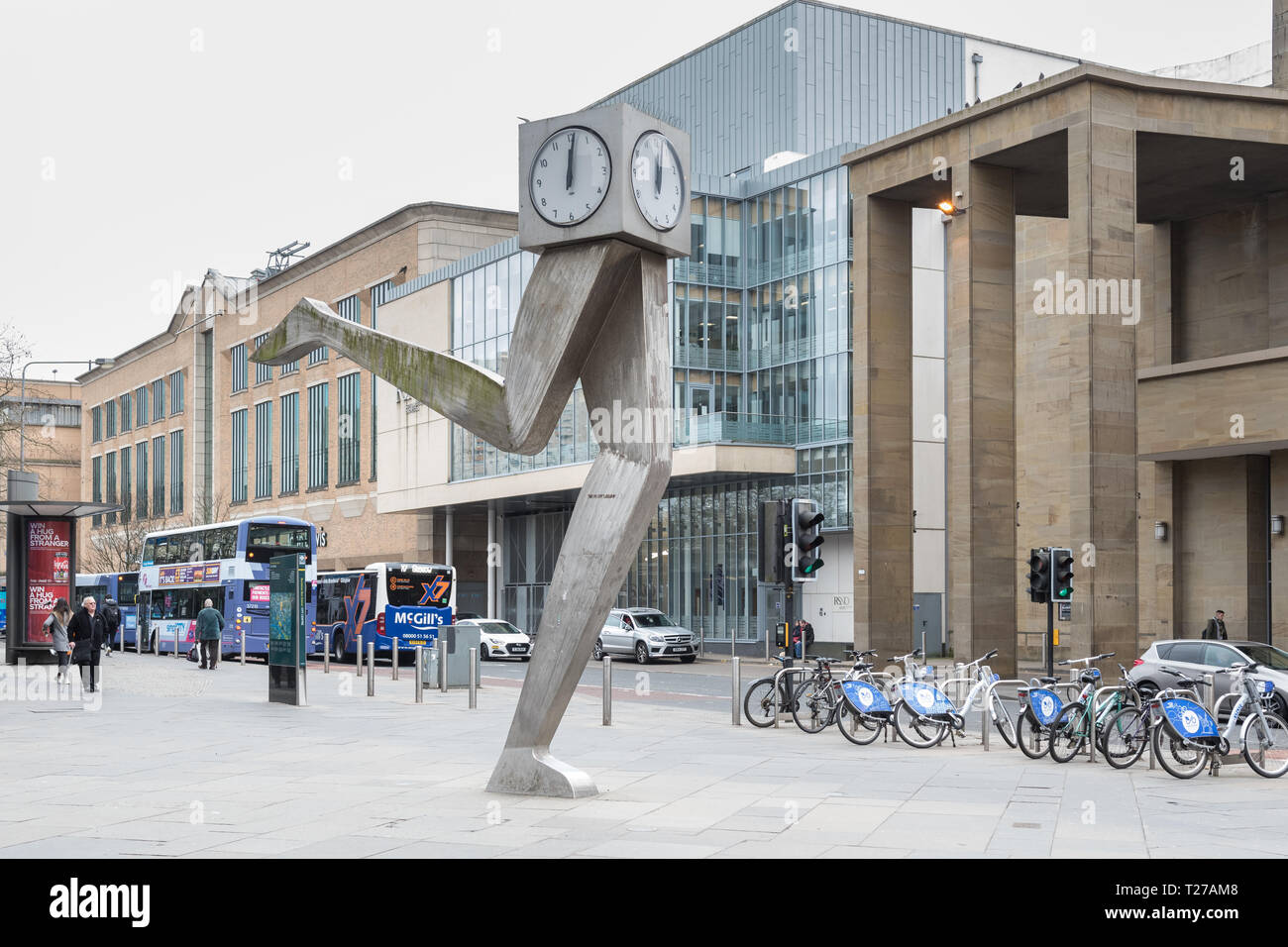 The Clyde Clock, Killermont Street, Glasgow, Scotland, UK Stock Photo