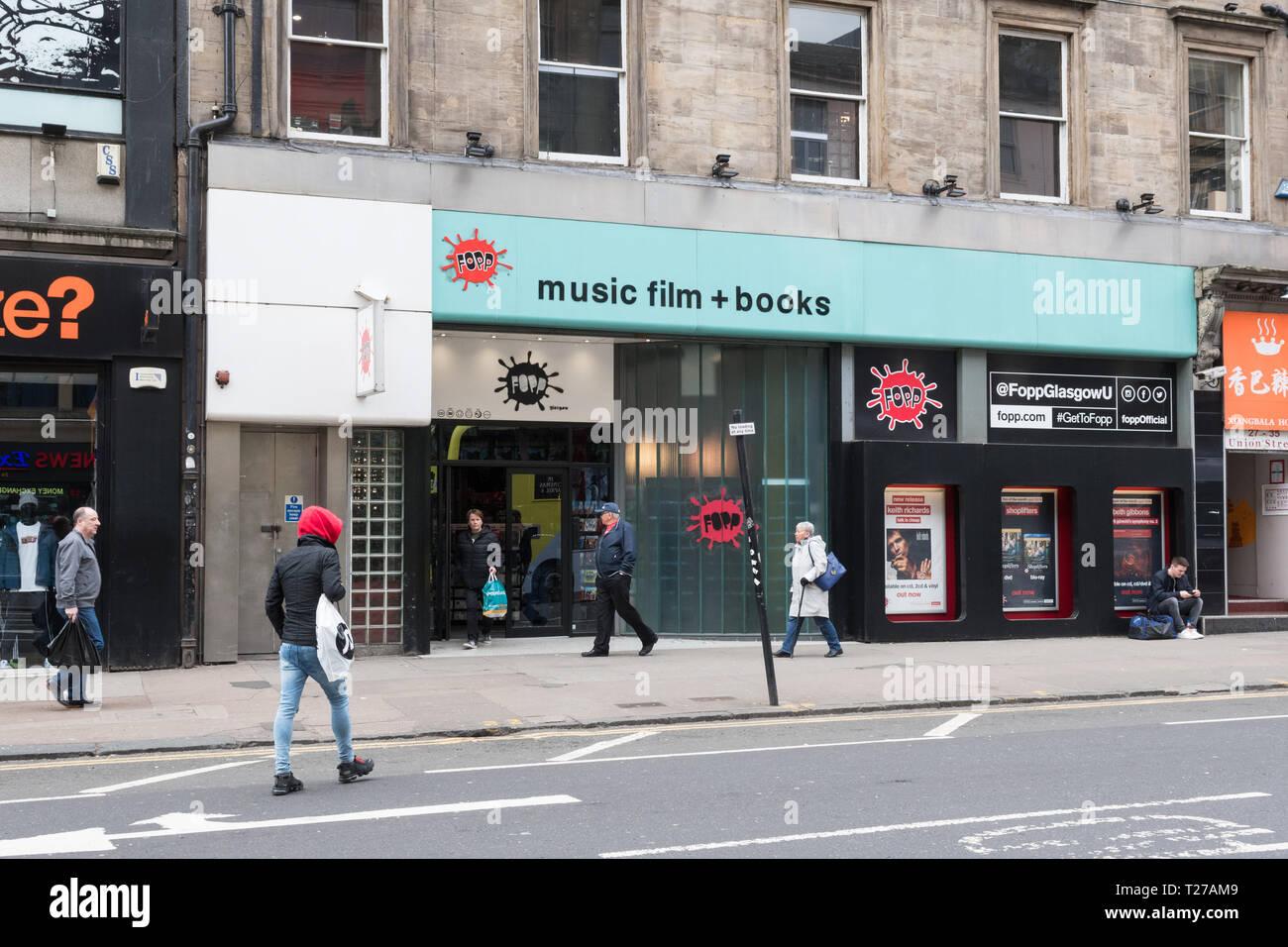 Fopp store, Union Street, Glasgow, Scotland, UK Stock Photo