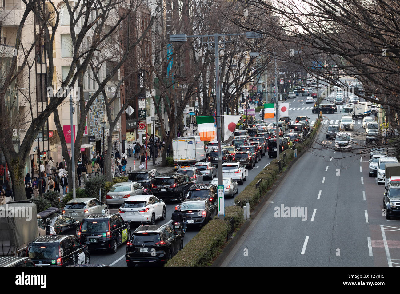 To say that streets in the Harjuku area were way overcrowded is an understatement. It is nothing like anything I have ever experienced before! Stock Photo