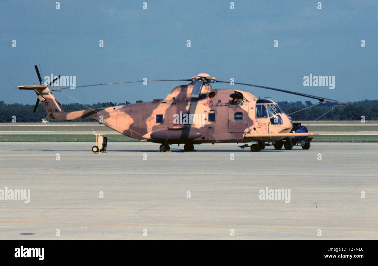 USAF United States Air Force Sikorsky HH-3E Jolly Green Giant - Stock Image