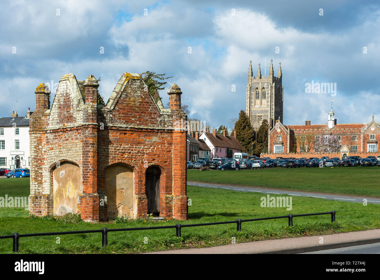 Remains of the old gaol at the village of Long Melford, Suffolk, East Anglia, UK Stock Photo