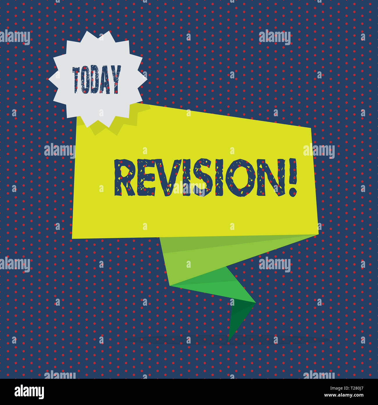 Conceptual Hand Writing Showing Revision Concept Meaning Rechecking Before Proceeding Self Improvement Preparation Two Tone Green Folded Back Banner Stock Photo 242350591 Alamy