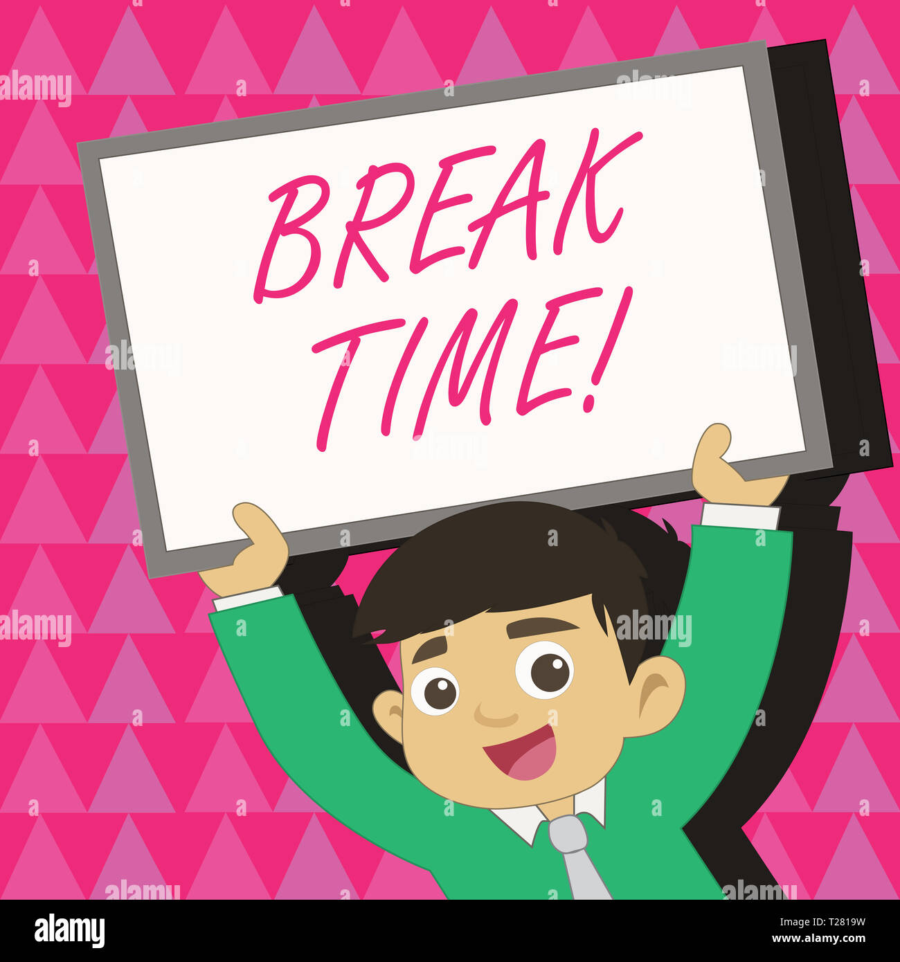 conceptual hand writing showing break time  concept