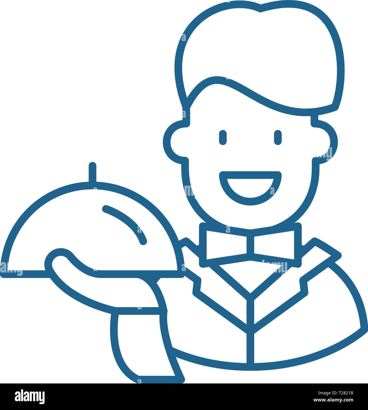 Best service line icon concept. Best service flat  vector symbol, sign, outline illustration. - Stock Vector