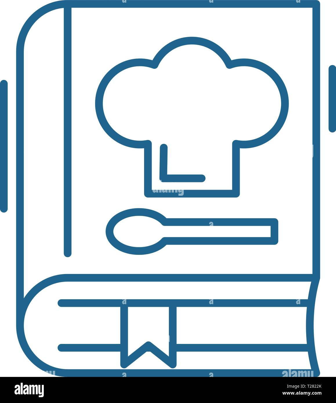 Book of recipes line icon concept. Book of recipes flat