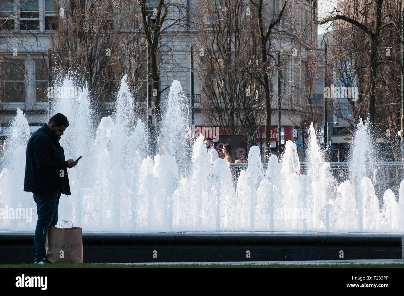 One of a selection of my images of the fountains in Piccadilly Gardens, Manchester - Stock Image