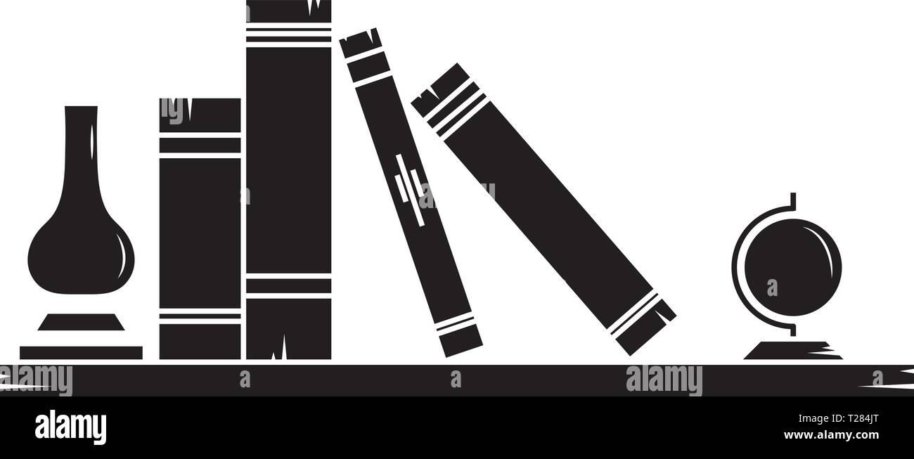 Book shelf Learning School Education vector logo design - Stock Image