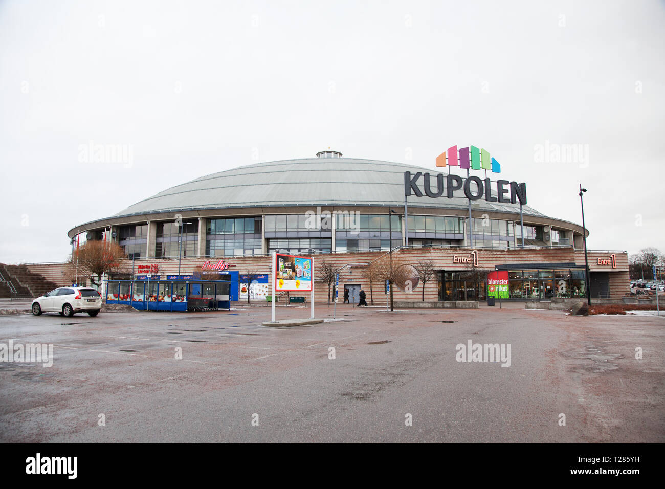 DRILL LINE 2017-02-20 The dome is a dome-shaped shopping center in Borlänge in Dalarna. Photo Jeppe Gustafsson - Stock Image
