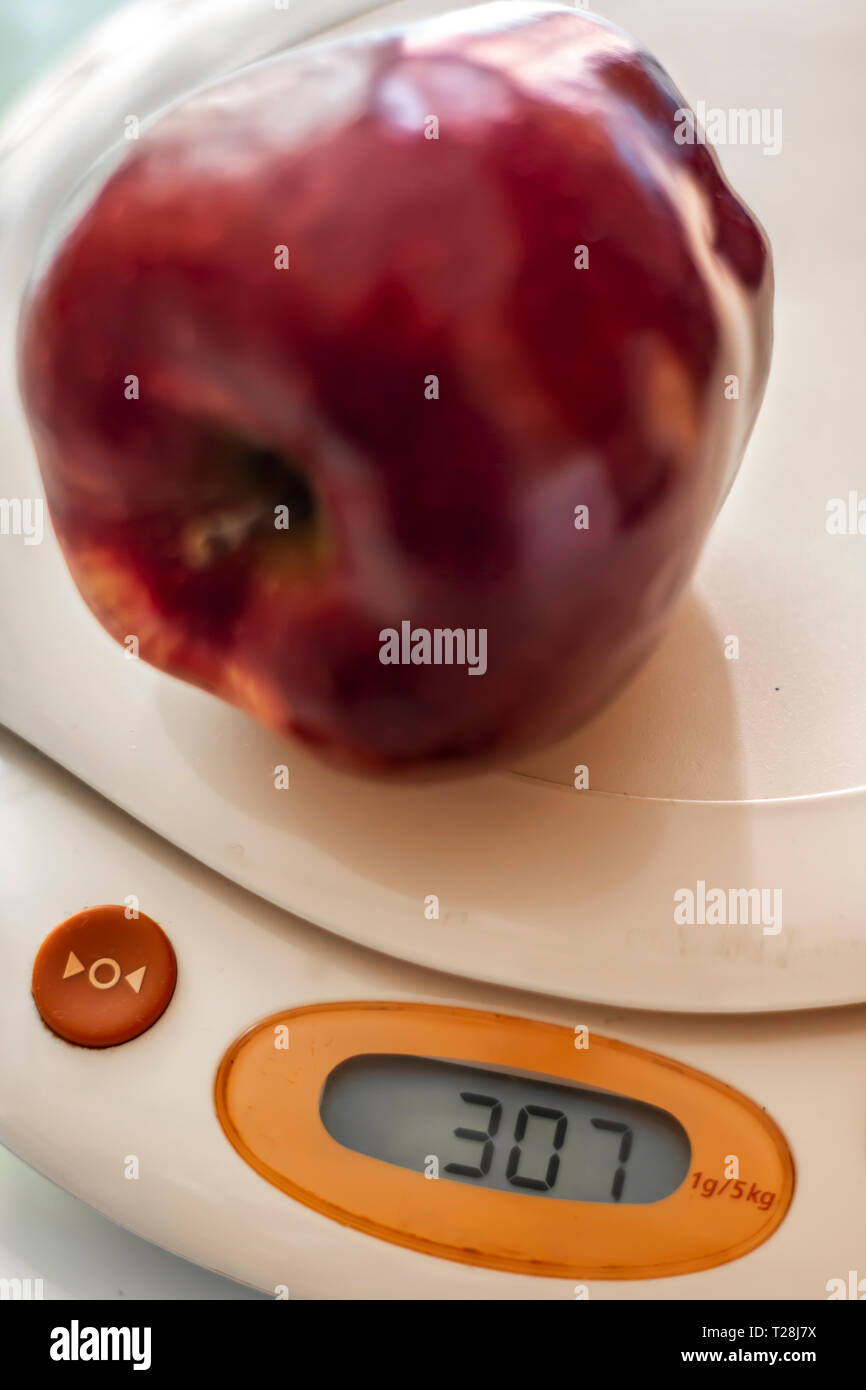 Weighing the food Stock Photo