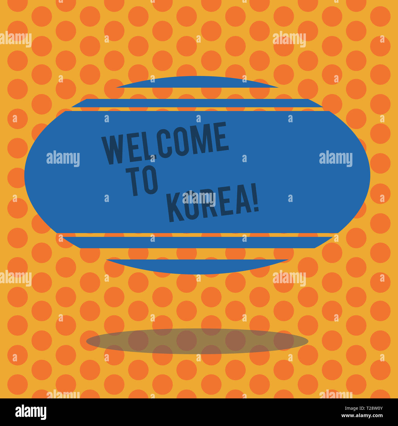 Writing note showing Welcome To Korea  Business concept for