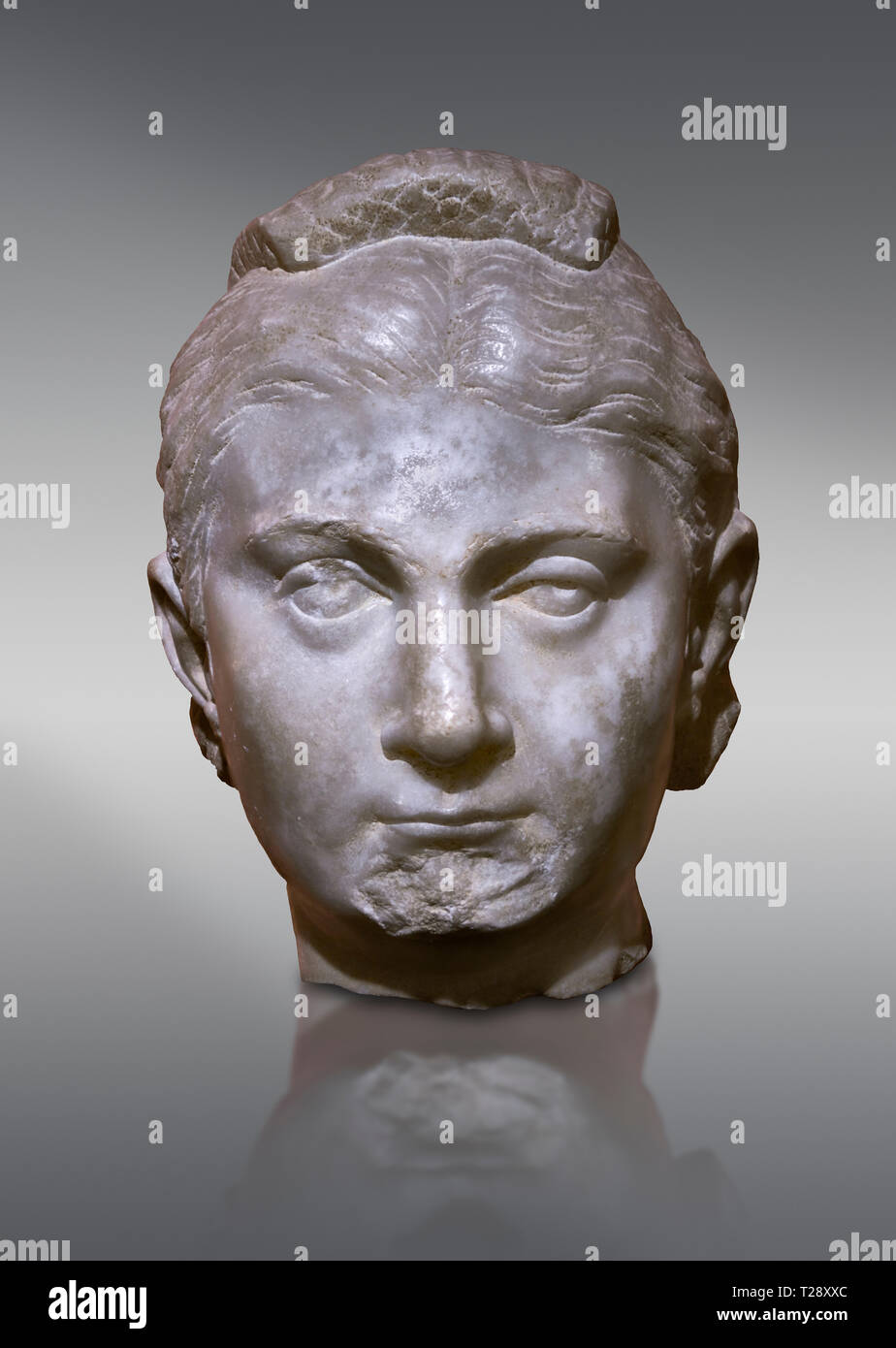 MAN STATUE HEAD ORNAMENT STONE GARDEN ROMAN CENTURION BUST
