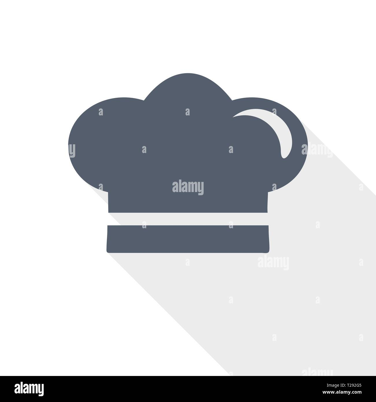 91570424e2ada chef hat, restaurant logo web icon, flat design vector illustration - Stock  Image