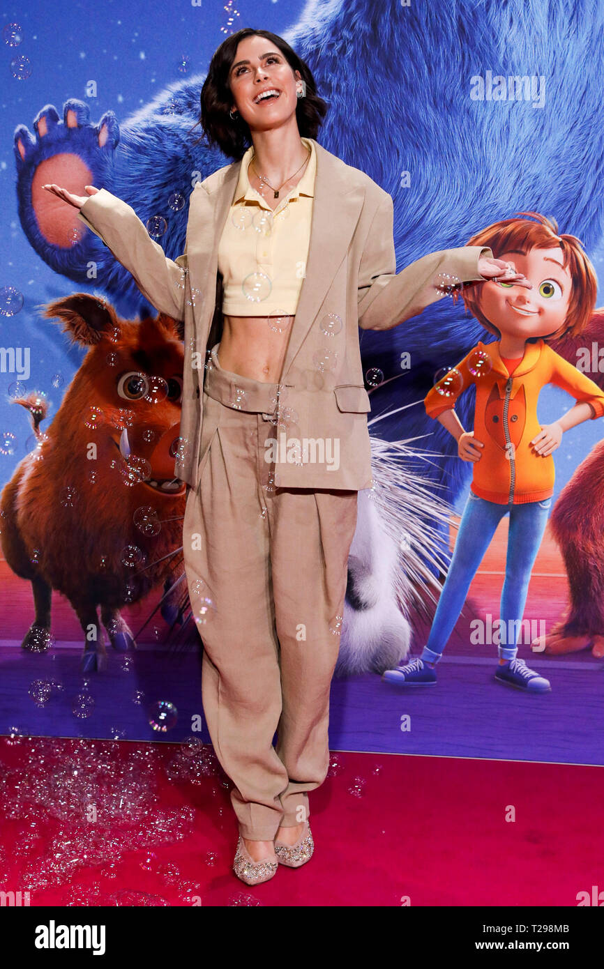 Berlin Germany 31st Mar 2019 Lena Meyer Landrut Singer And German Voice Of Main Character June Comes To The Film Premiere Of The Animated Film Willkommen Im Wunder Park The Cinema Launch Is