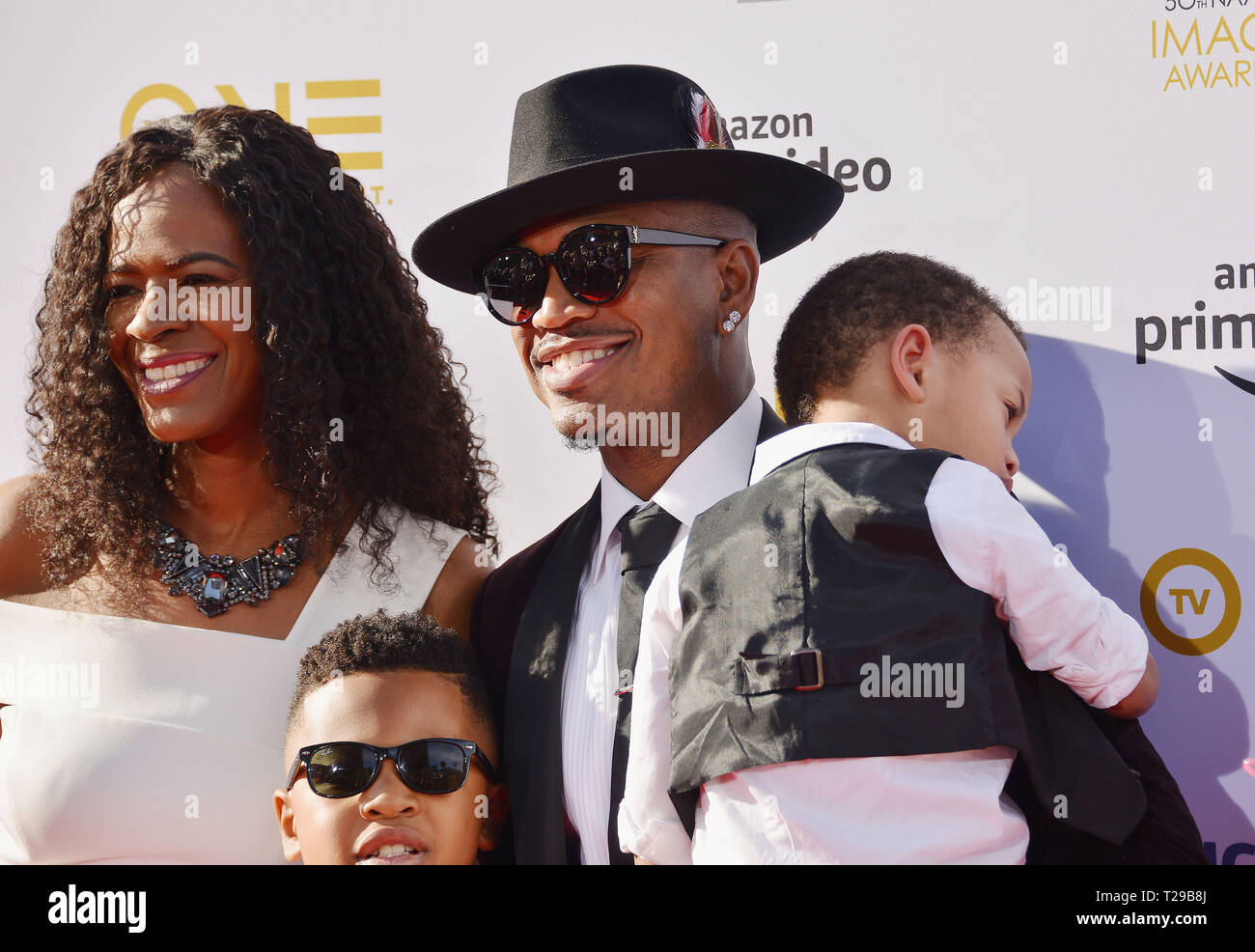 California, USA  30th Mar, 2019  Ne-Yo , wife and kids attends the