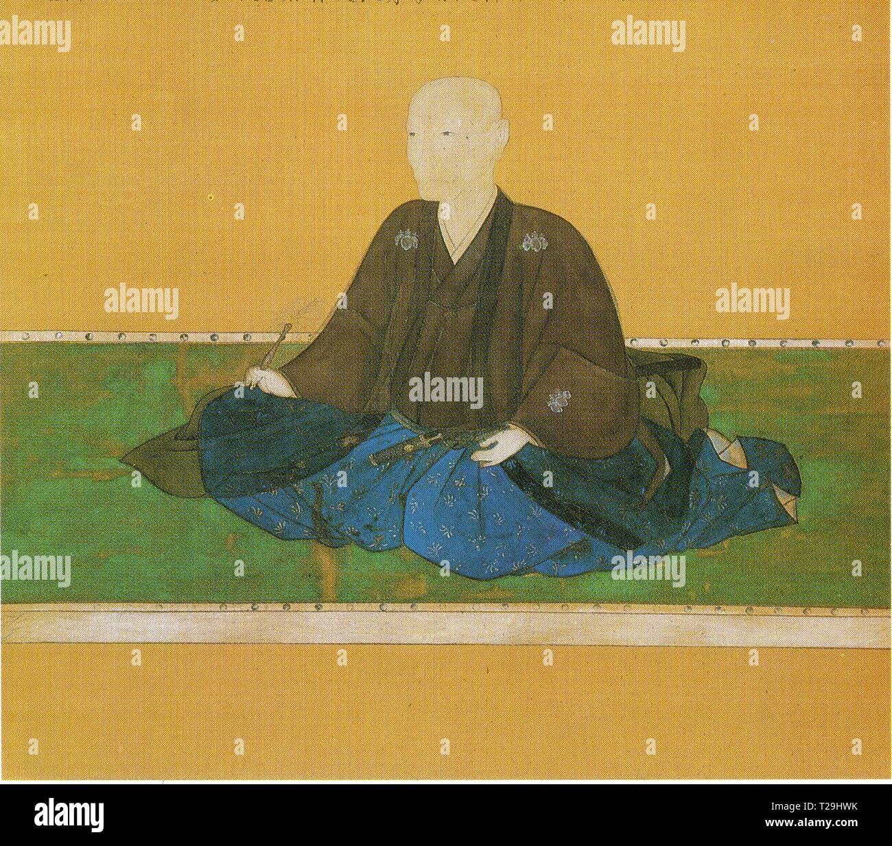 PEINTURE JAPONAISE ANCIENNE - Stock Image