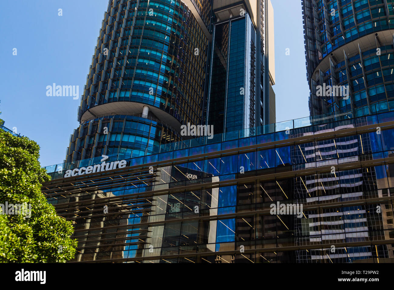 Another great example of Sydney's sustainable office buildings is the Accenture building in Barangaroo, Sydney. The company is situated in  Internatio Stock Photo