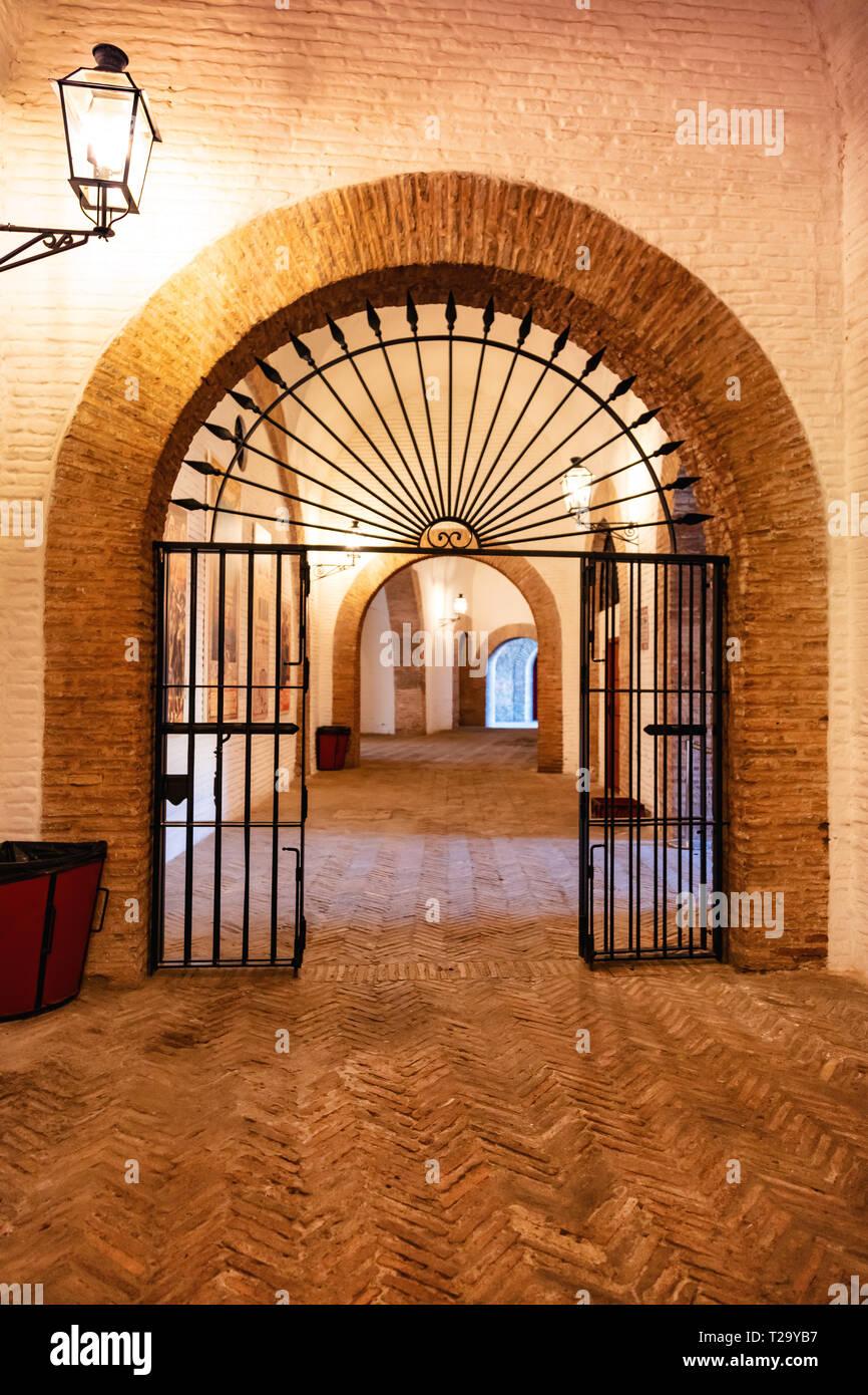 Arènes de la Maestranza de Seville, Andalousie, Espagne / Arenas of the Maestranza of Seville, Andalusia, Spain - Stock Image