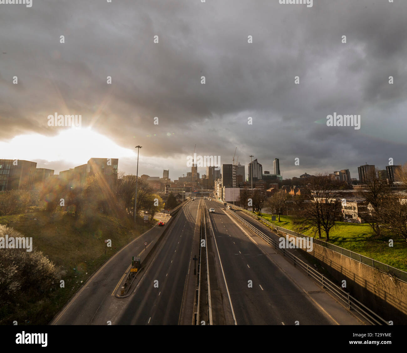 The skyline of Leeds, West Yorkshire - Stock Image
