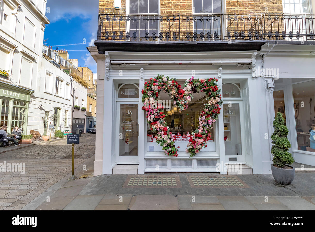 Jo Loves, a scent ,perfume and scented candle shop in Belgravia,London SW1 owned  by Jo Malone - Stock Image