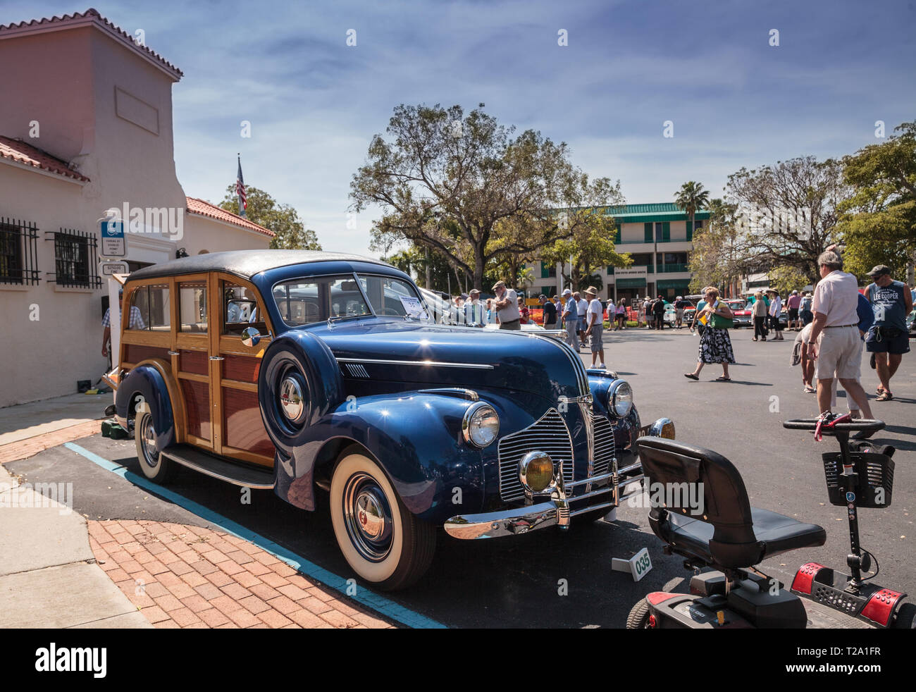 Naples Car Show >> Naples Florida Usa March 23 2019 1940 Pontiac Wagon At