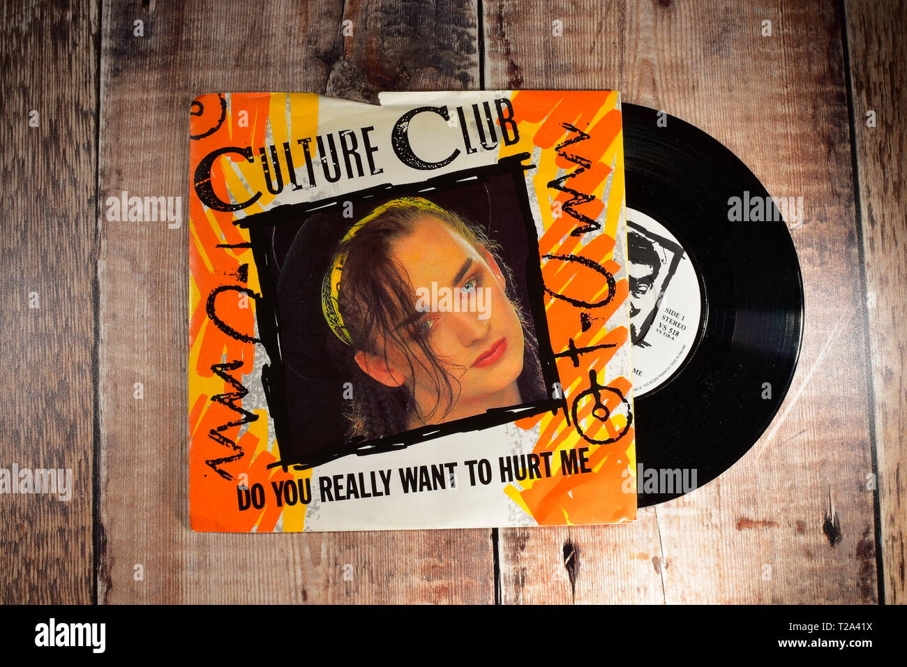 Culture Club 7inch single, Do you really want to hurt me - Stock Image