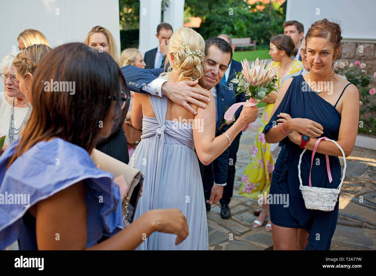 Wedding at St Andrew's School for Girls Stock Photo
