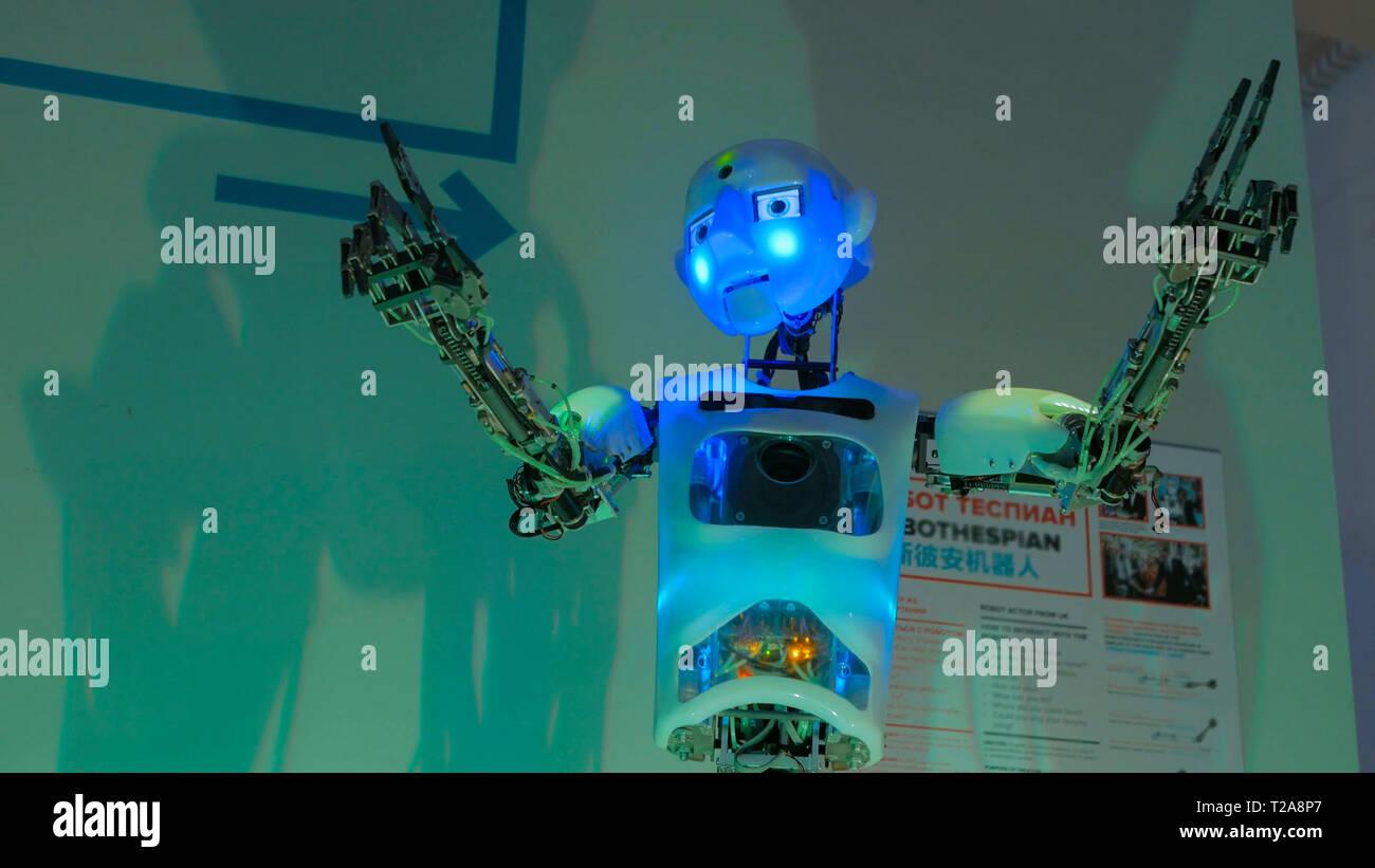 Funny humanoid robot - Stock Image
