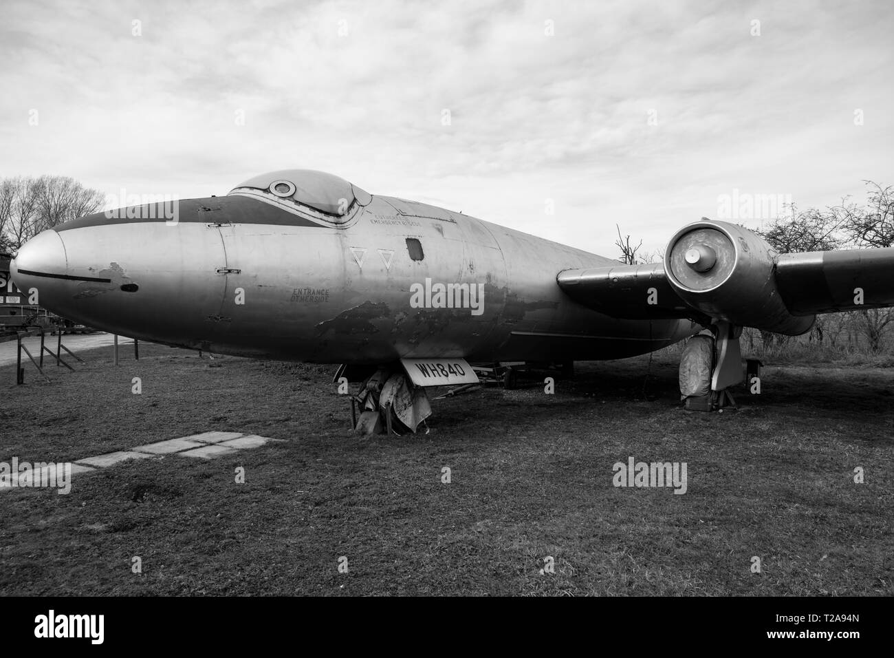 English Electric Canberra T.4 Cold War era bomber - Stock Image