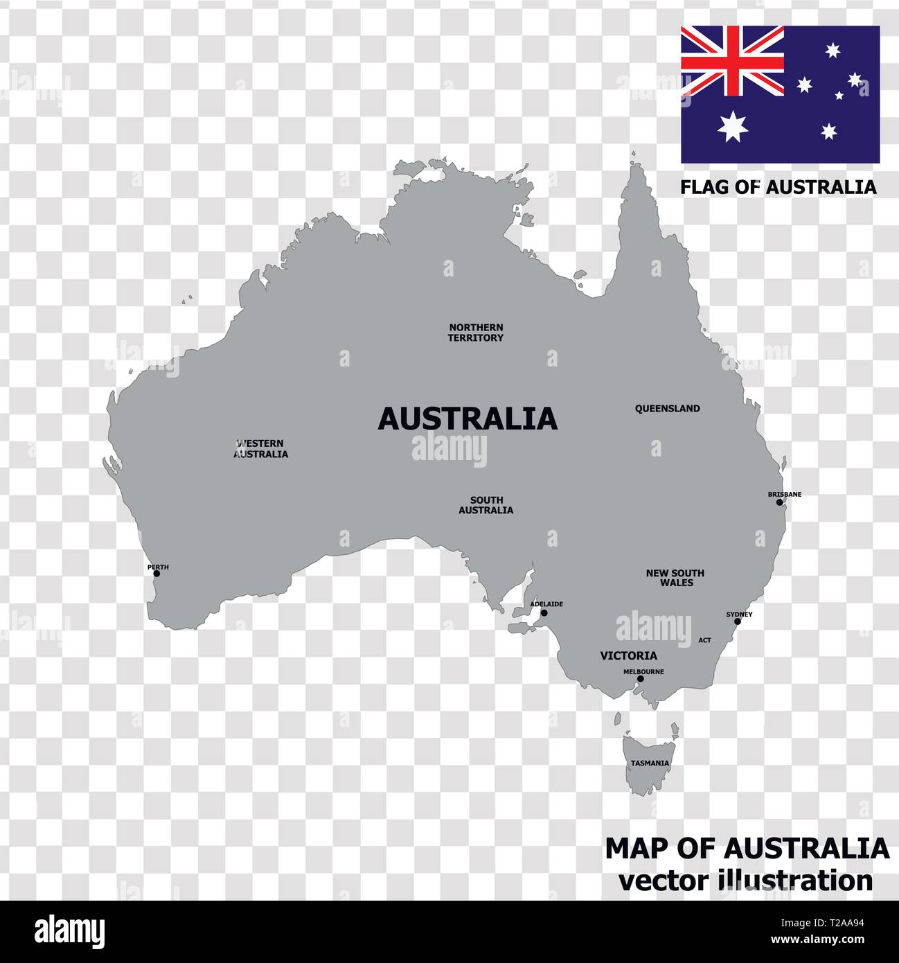 Australia Map Transparent.Map Of Australia With Flag Australian Infographic Bright