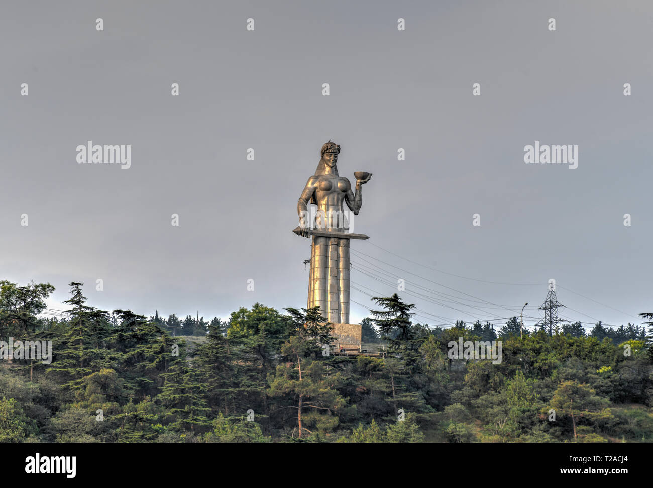Kartlis Deda (Mother of a Georgian) monument in Tbilisi, Georgia. The statue was erected on the top of Sololaki hill in 1958, the year Tbilisi celebra Stock Photo