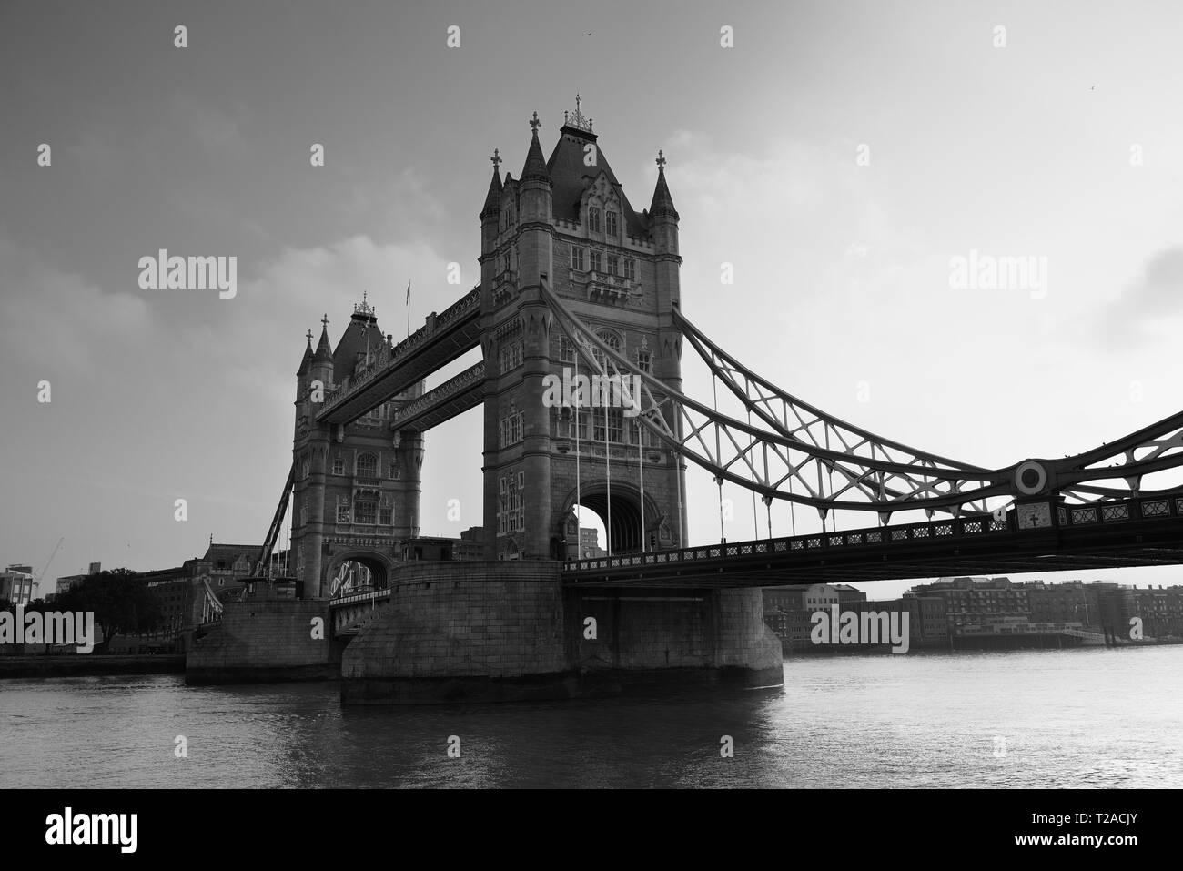 Tower Bridge London as the city landmark.. - Stock Image