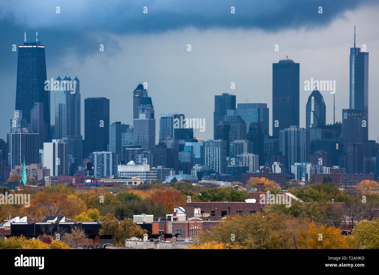 Skyline of Chicago, Illinois, USA - Stock Image