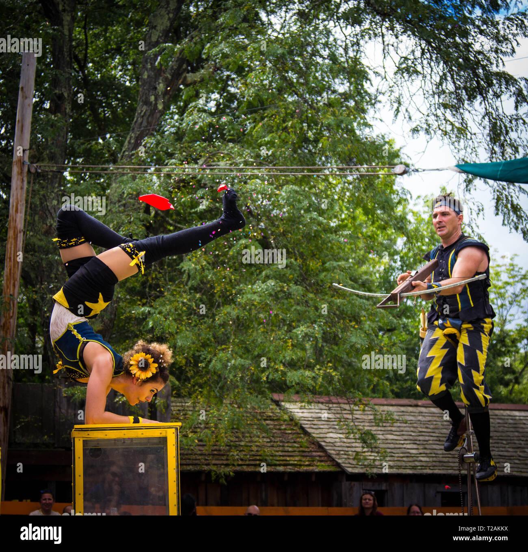 acrobatics - Stock Image