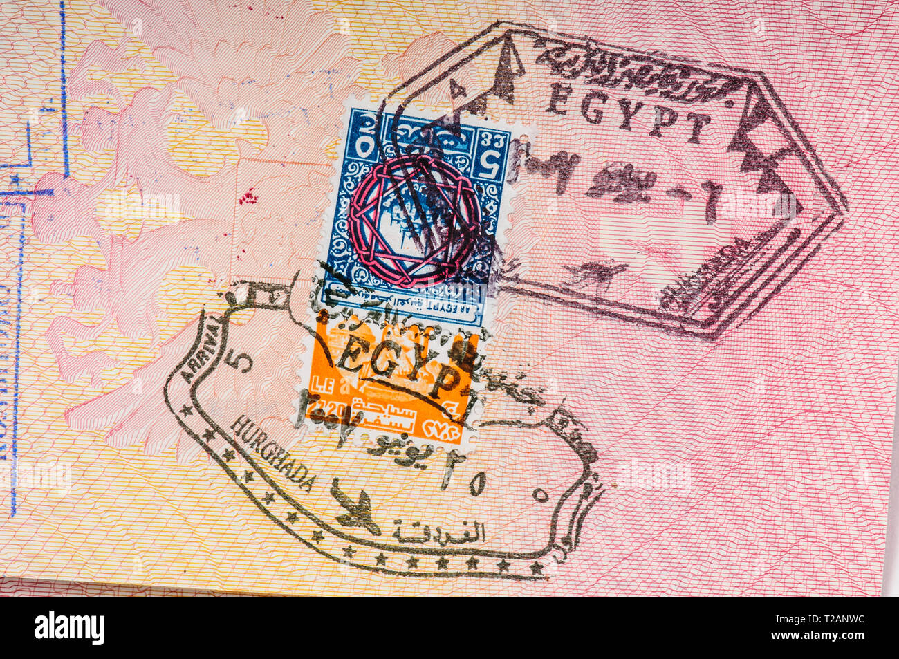 Egypt Visa High Resolution Stock Photography And Images Alamy