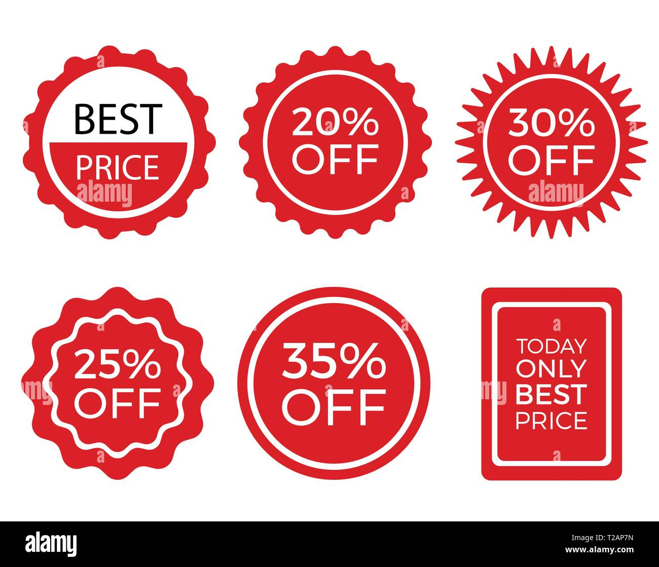 Sale stickers collection set of promotional vector labels