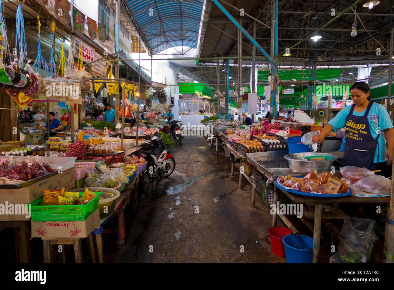 Mueang Kanchanaburi Fresh Market, Kanchanaburi, Thailand - Stock Image