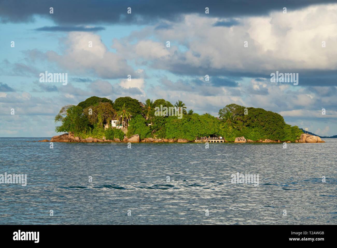 Chauve Souris island off the coast of Praslin, the Seychelles Stock Photo