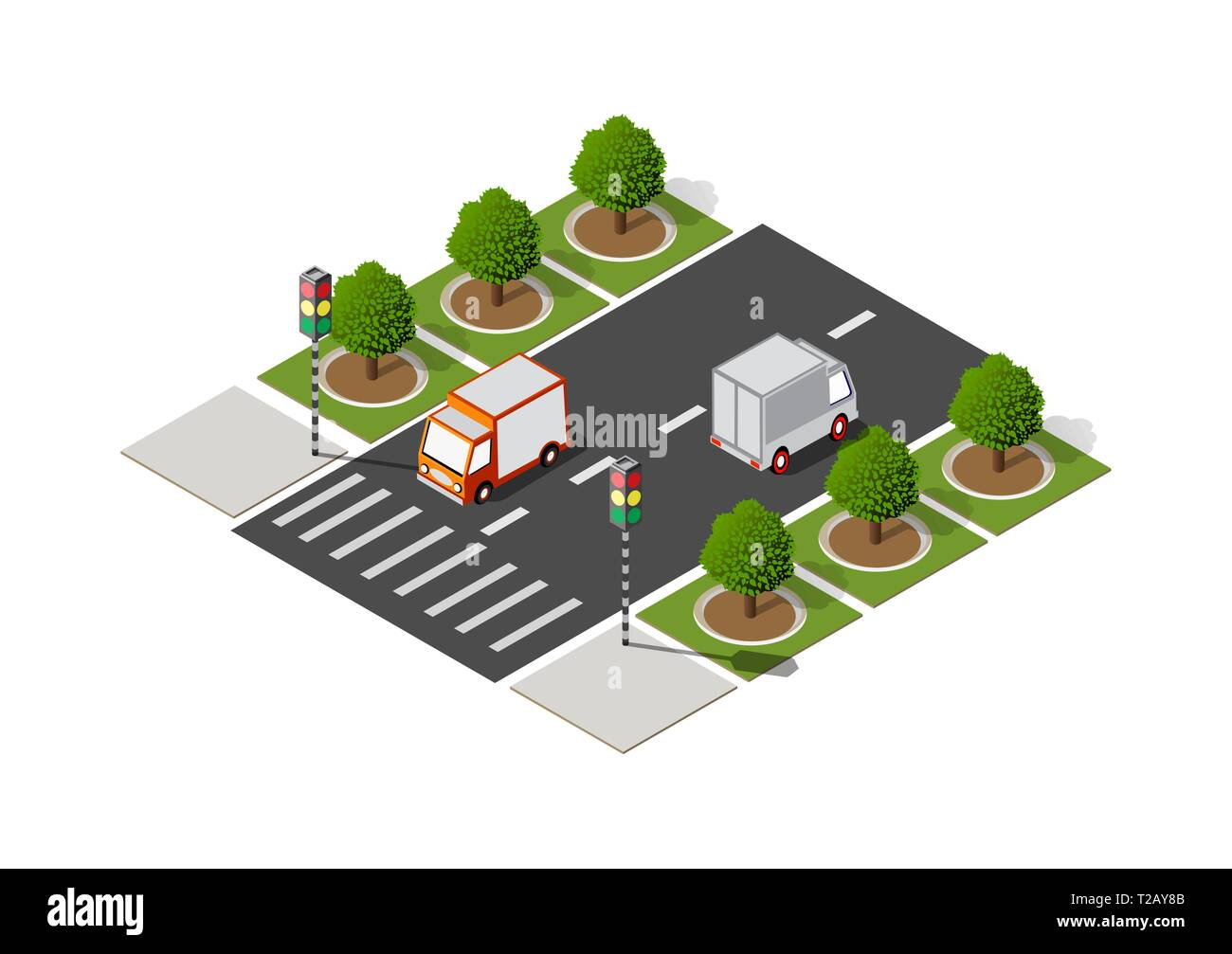 Highway city street road traffic cars. Infrastructure urban economy. Stock Vector