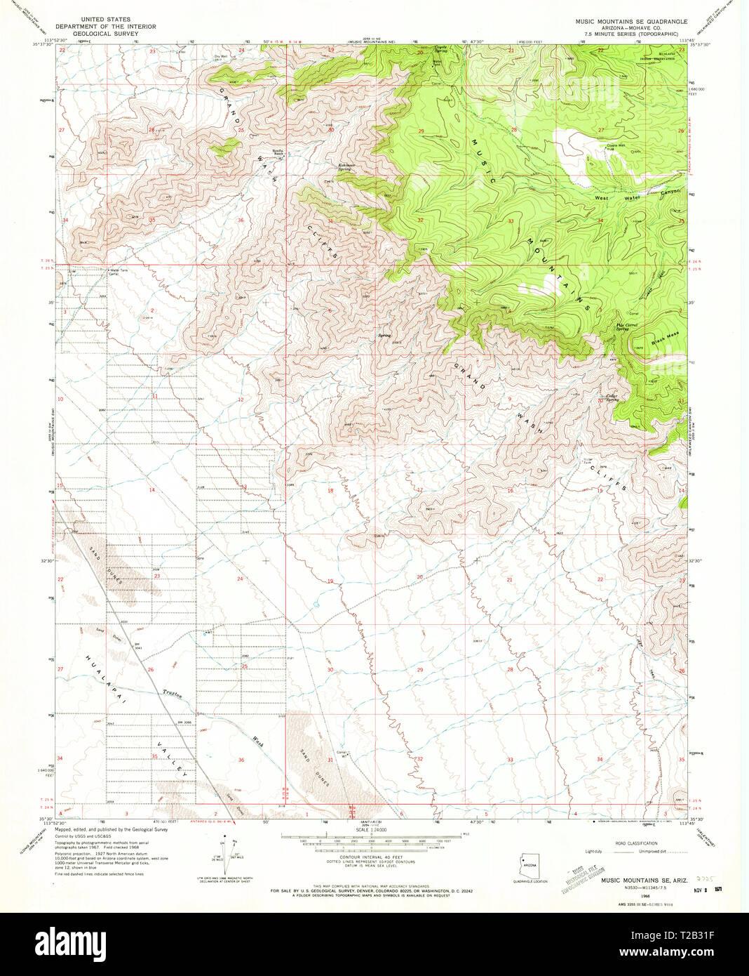 USGS TOPO Map Arizona AZ Music Mountains SE 312567 1968 ... Map Of Arizona Mountains on map of white mountain area, map of laughlin casinos, map idaho mountains, arizona major mountains, map of az, map california mountains, location of superstition mountains, new mexico map with mountains, map utah mountains, map of nevada,