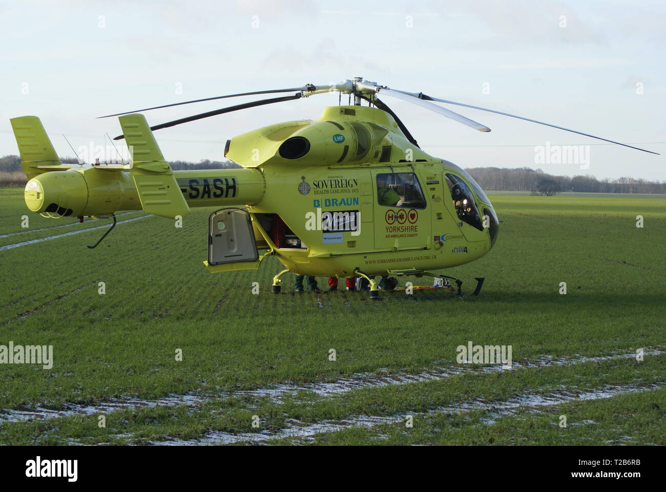 air ambulance, Helicopter Medivac - Stock Image