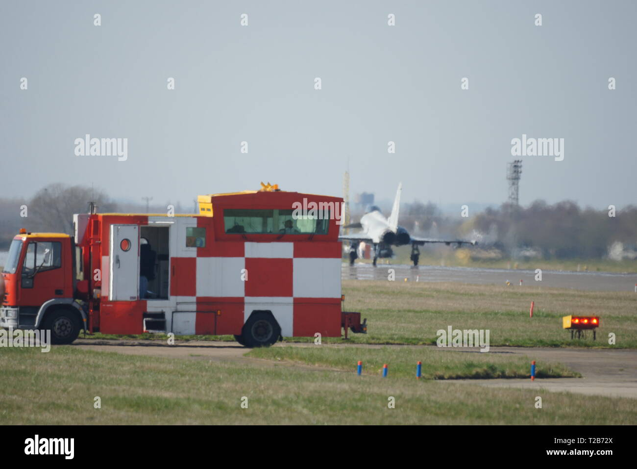 mobile military air trafic control truck, RAF coningsby - Stock Image