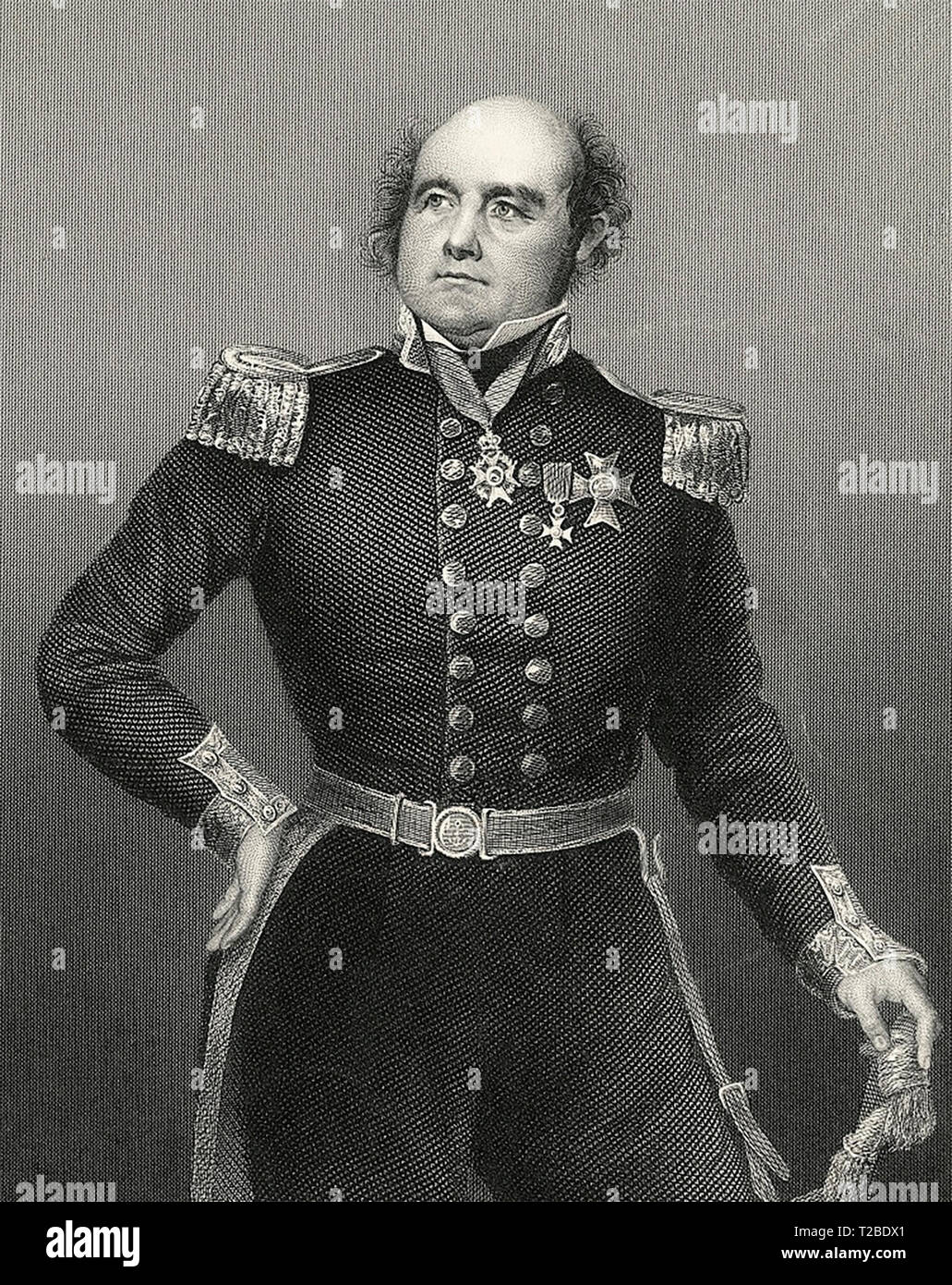 Sir John Franklin (1786-1847), English sea captain and Arctic explorer. - Stock Image