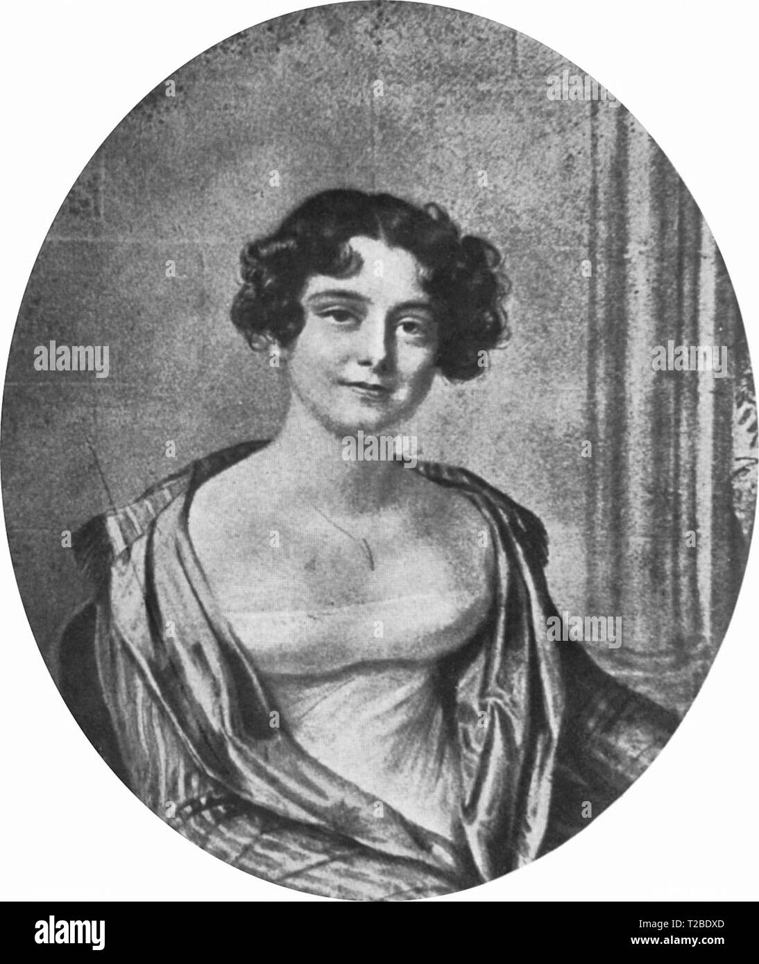 Jane Griffin, aged 24. Later Lady Jane Franklin. 1816 - Stock Image