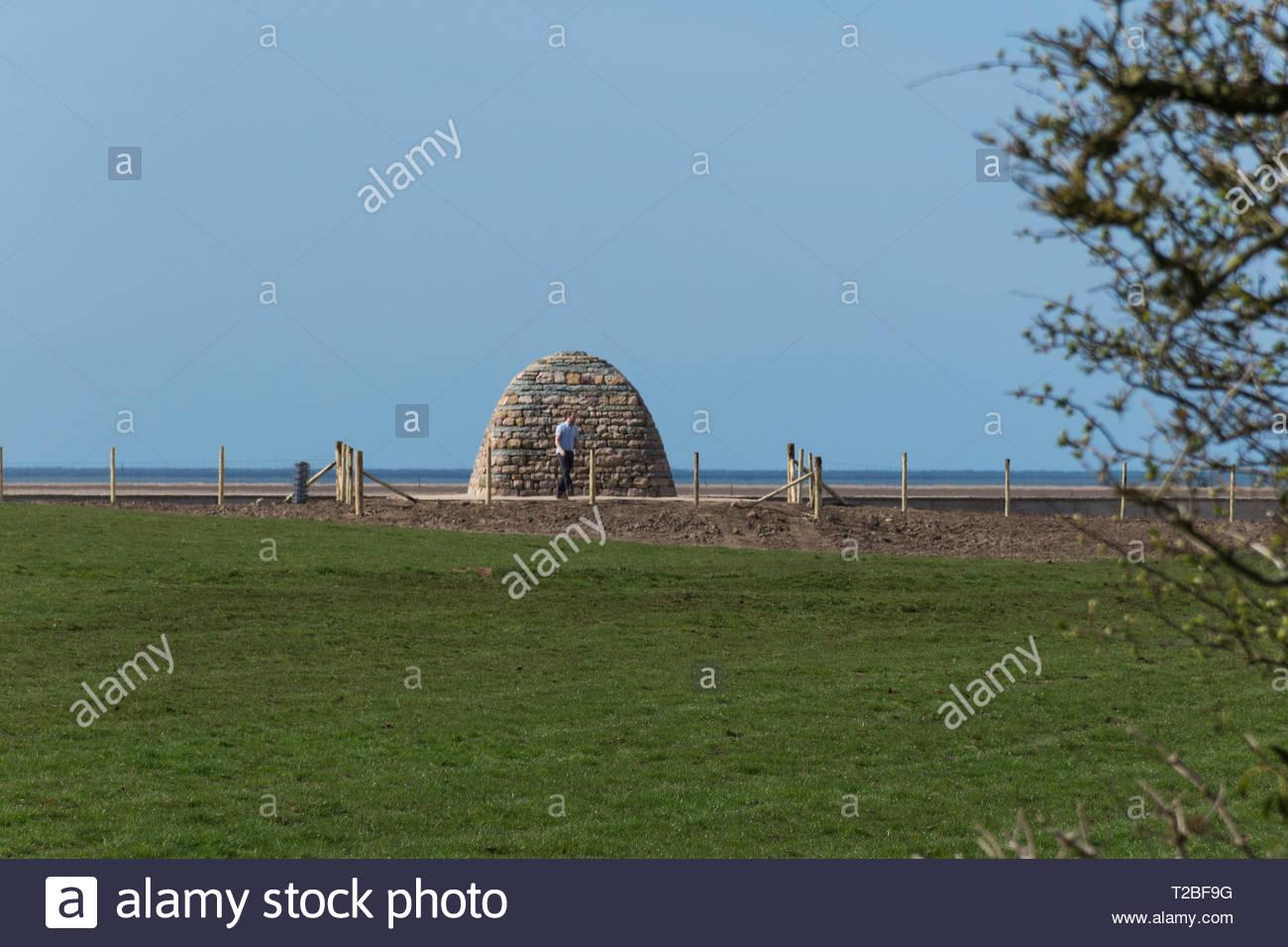 Chris Drury's Horizon Line chamber at Sunderland Point, Lancashire, England, UK - Stock Image