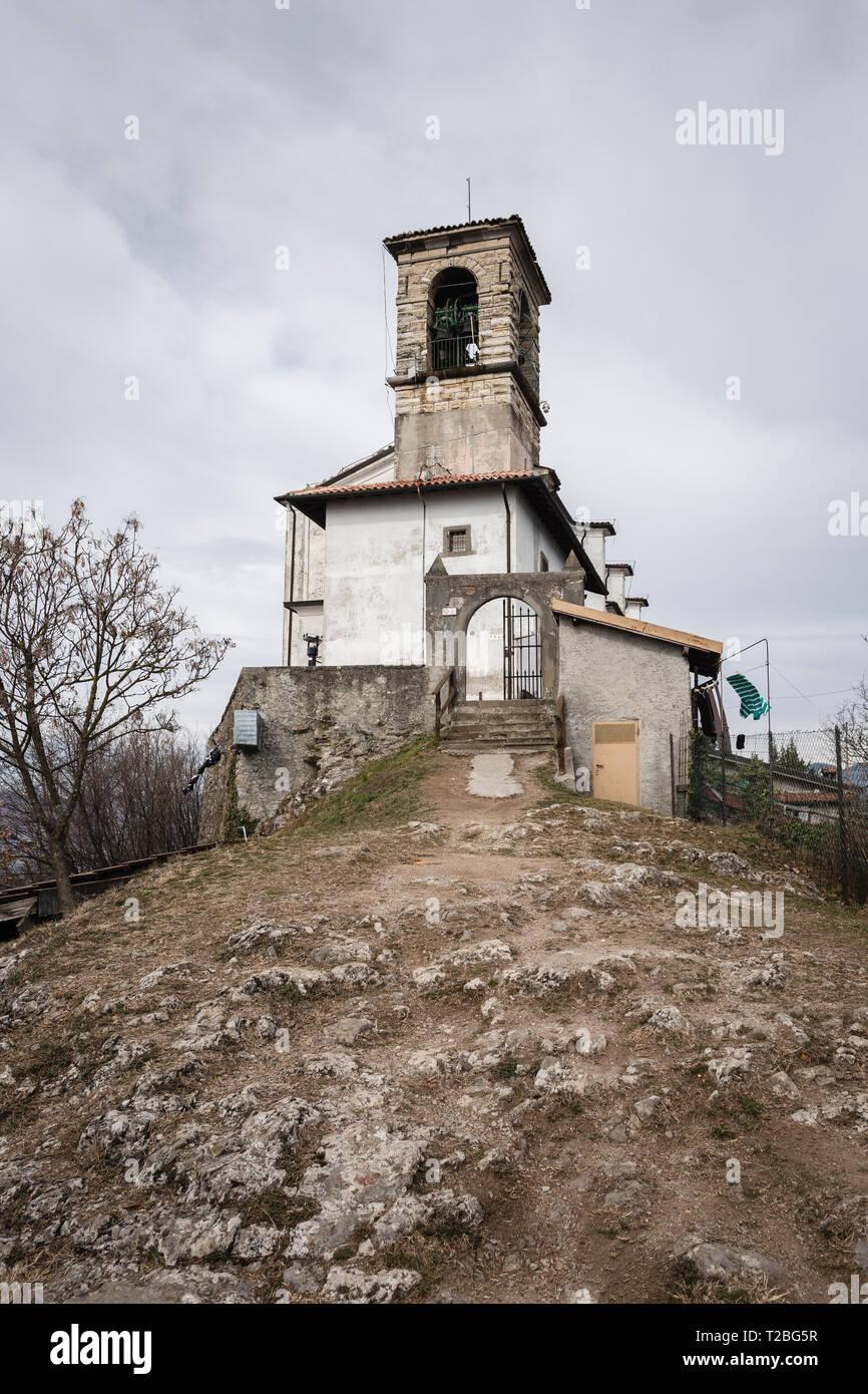 Madonna della Ceriola sanctuary, Mont Isola, Iseo lake, Lombardy, Italy - Stock Image