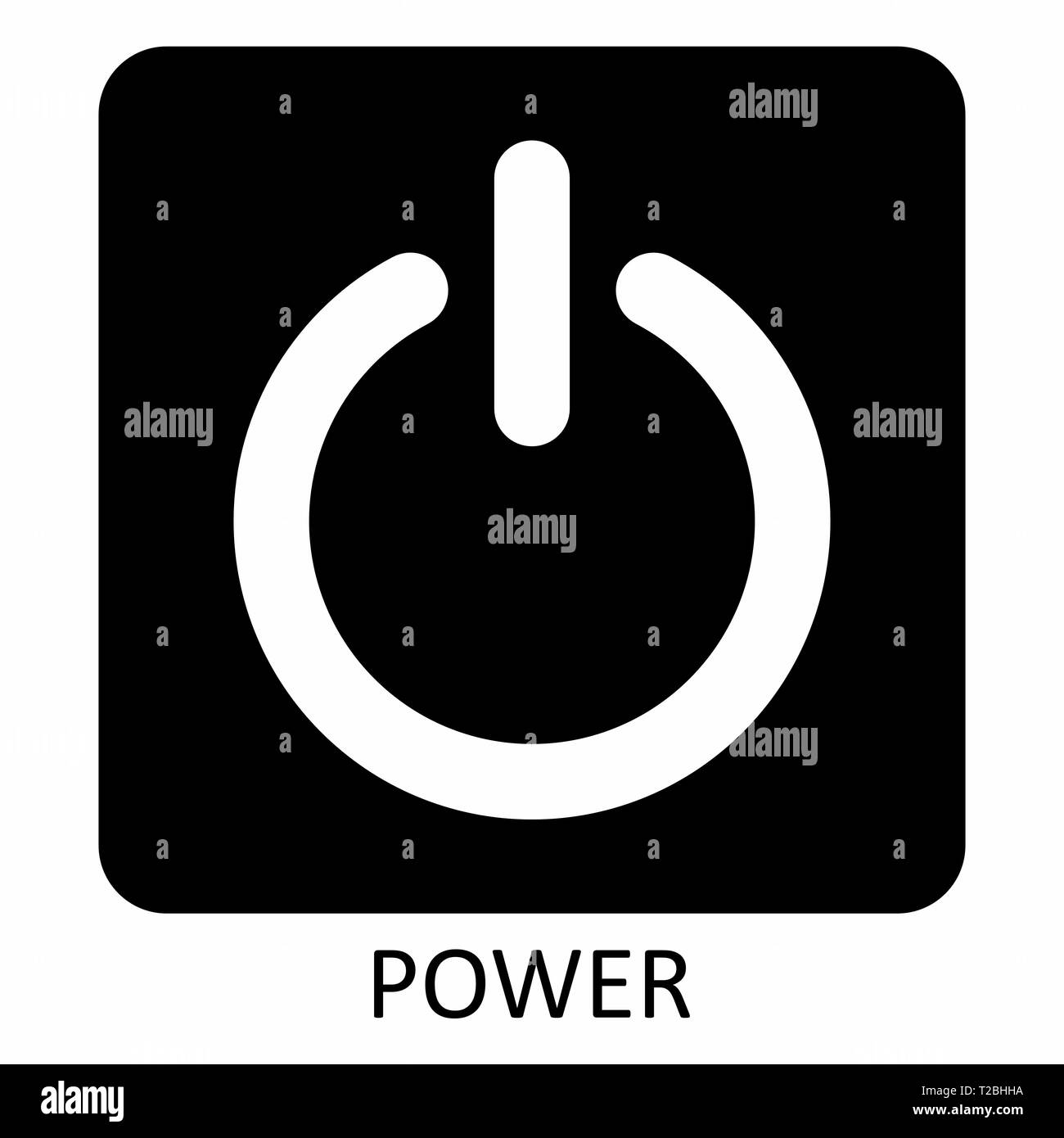 Power symbol illustration - Stock Vector
