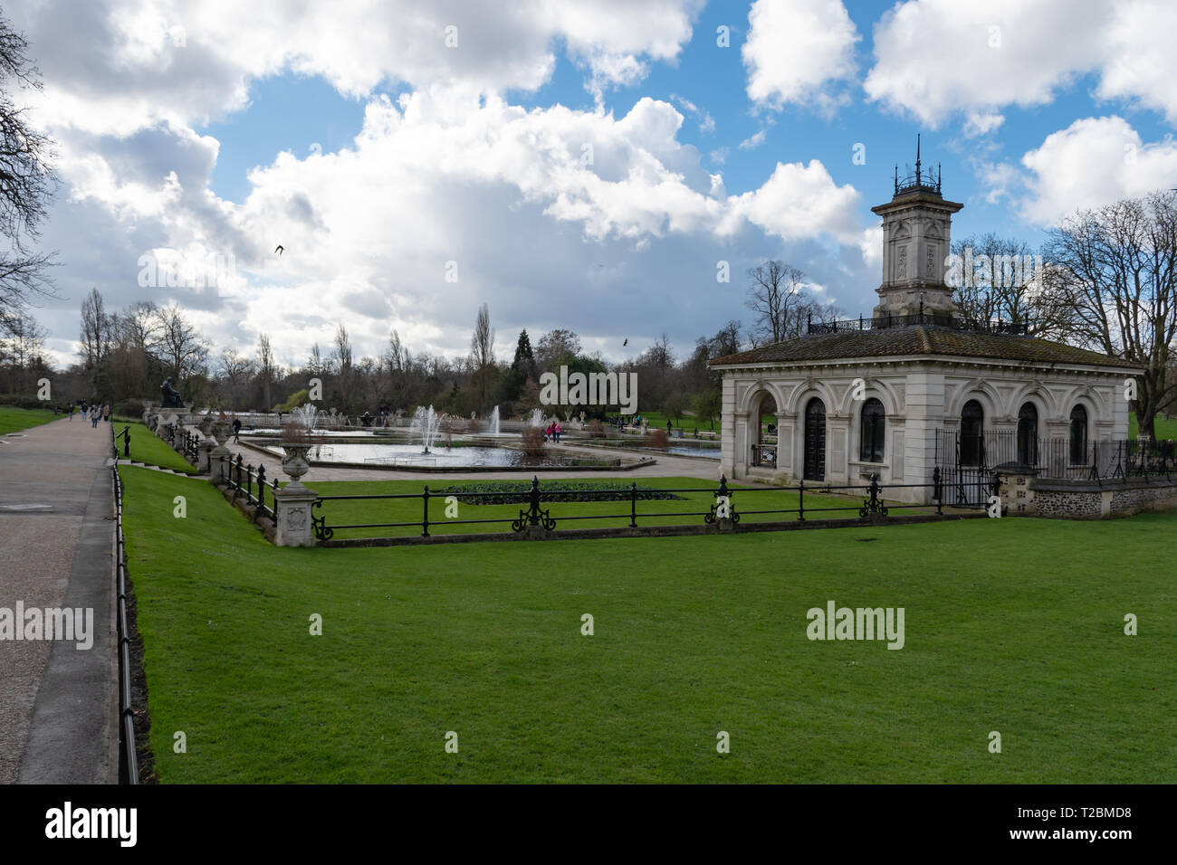 Fountain in the park of London Stock Photo